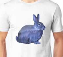 Misty Forest Bunny - Purple Unisex T-Shirt