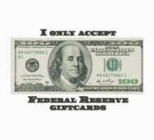 Federal Reserve Giftcards One Piece - Short Sleeve