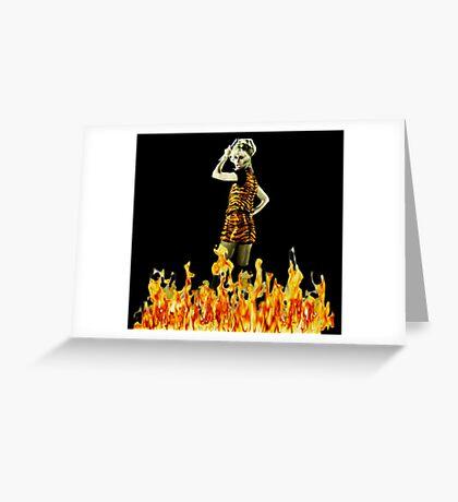 Xanadu Burnin' Hot  Greeting Card