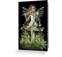 Crystal Fairy ~ Flute Melody Greeting Card