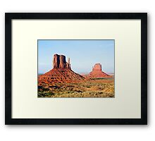 The Mittens, Monument Valley, Navajo Nation Framed Print