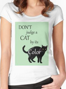 Cat Poster Women's Fitted Scoop T-Shirt