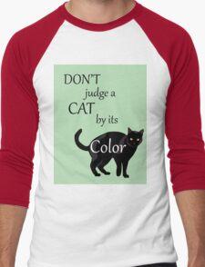 Cat Poster Men's Baseball ¾ T-Shirt