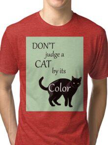 Cat Poster Tri-blend T-Shirt
