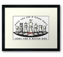 Martial Arts Chess Pieces Framed Print
