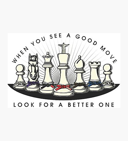 Martial Arts Chess Pieces Photographic Print