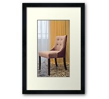 elegant chair with fabric upholstery Framed Print