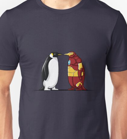 Super Penguin Iron Hero Man Movies Save World Gift Shirt Unisex T-Shirt