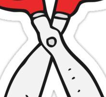 cartoon pair of scissors Sticker