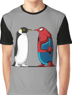 Super Penguin Spider Hero Man Movies Save World Gift Shirt Graphic T-Shirt