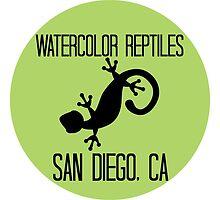 Watercolor Reptiles - Green Circle Logo by WCReptiles