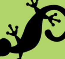 Watercolor Reptiles - Green Circle Logo Sticker