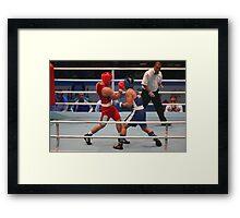 boxing uppercut right hand Framed Print