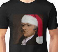 Alexander Hamilton with Santa Hat Unisex T-Shirt