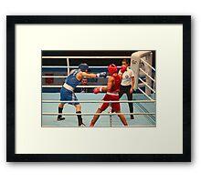 Boxing attack Framed Print