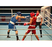 Boxing attack Photographic Print