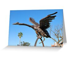 David Sherlock - Black Swan Sculpture Greeting Card