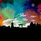 Kyoto Japan Skyline Cityscape by T-ShirtsGifts