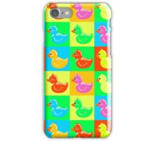 Colourful Rubber Ducky iPhone Case/Skin