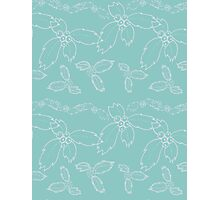 Teal Holly  Photographic Print