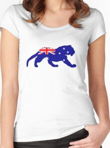 Australian Flag - Tiger Women's Fitted Scoop T-Shirt