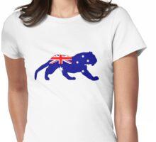 Australian Flag - Tiger Womens Fitted T-Shirt