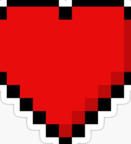 8-Bit Heart Sticker