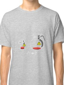 Funny Coffee Aholic Low Battery Needs Charge Reading Gift Shirt Classic T-Shirt