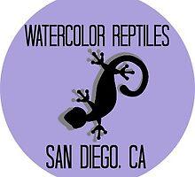 Watercolor Reptiles - Purple Silhouette Logo by WCReptiles