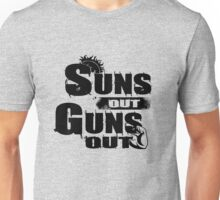Sun Out Gun Out Funny Quotes Political Politics Police Gift Shirt Unisex T-Shirt