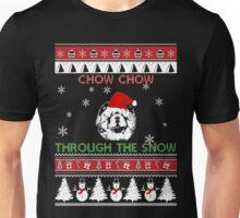 Merry Christmas - Chow Chow Through The Snow Unisex T-Shirt