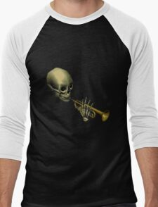 Spooky Skeltal Trumpet Men's Baseball ¾ T-Shirt