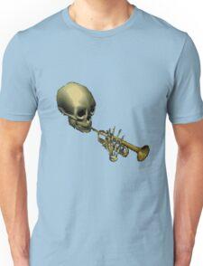 Spooky Skeltal Trumpet Unisex T-Shirt