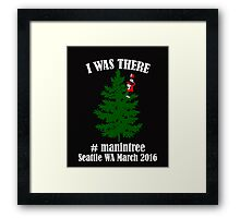 I Was There Seattle WA March 2016 white Framed Print