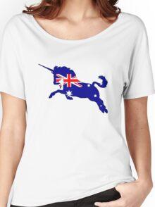 Australian Flag - Unicorn Women's Relaxed Fit T-Shirt