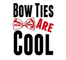 Bow Ties Doctor Who Photographic Print