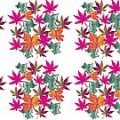 Autumn Leaves Pattern by Alexandra Felgate