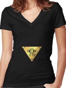 Millenium Puzzle Women's Fitted V-Neck T-Shirt