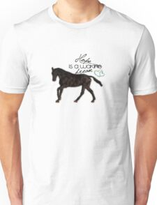 """Hope is a waking dream"" equestrian style Unisex T-Shirt"