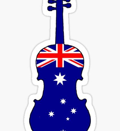 Australian Flag - Viola Sticker