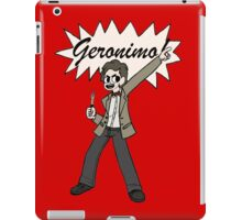 "The 11th Doctor Pilgrim-style--""Geronimo!""  iPad Case/Skin"