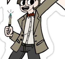 "The 11th Doctor Pilgrim-style--""Geronimo!""  Sticker"