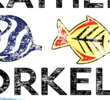 ID RATHER BE SNORKELING SNORKEL SCUBA DIVING OCEAN I'D Sticker