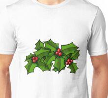 Christmas Holly Art Unisex T-Shirt