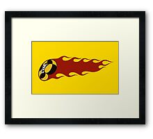 Crazy Taxi Flame Framed Print