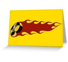 Crazy Taxi Flame Greeting Card