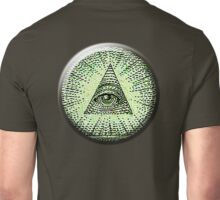 Eye of Providence, American, USA, Mystic, Dollar, Bill, Money, Freemasonry, All Seeing Eye, Pyramid, Masonic, America Unisex T-Shirt