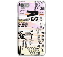 dancing letters iPhone Case/Skin