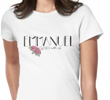 Emmanuel: God with us {black} Womens Fitted T-Shirt