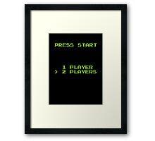 Press Start Framed Print